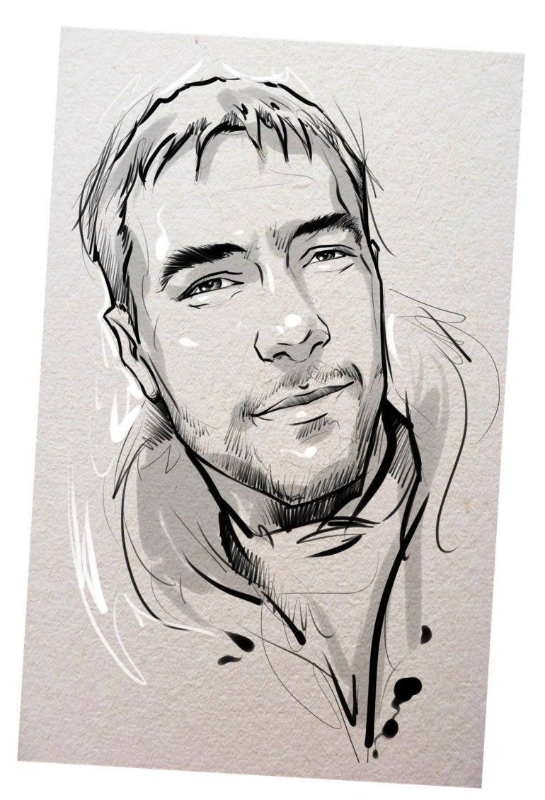Портрет карандашом любимому мужу в Ростове-на-Дону…