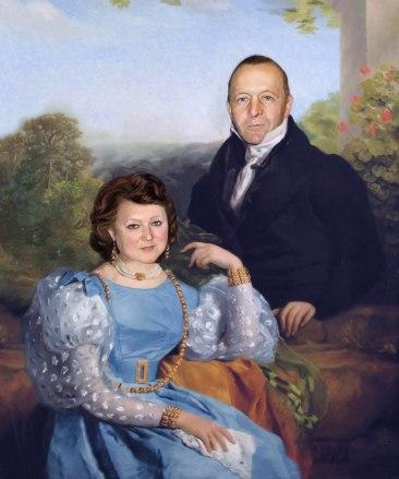 Семейный портрет по фото на холсте — правильная традиция…