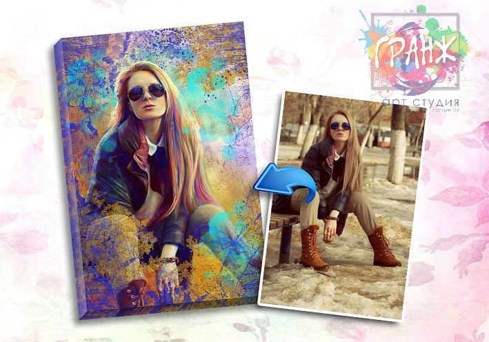 Портрет по фото на заказ в честь 8 марта в Ростове на Дону