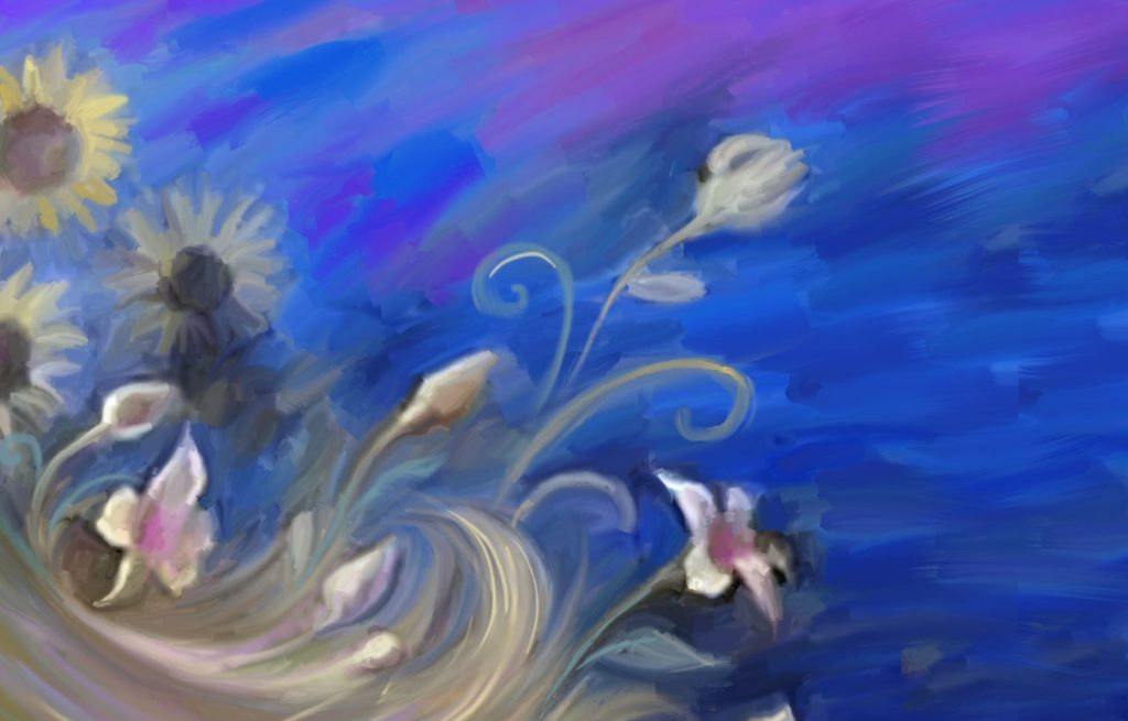 ручная прорисовка на холсте