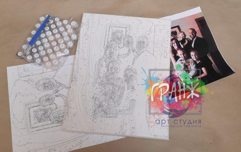Картина по номерам по фото, портреты на холсте и дереве в Ростове-на-Дону